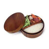 Japoński Bento pudełka drewniany pojemnik na lunch Sushi przenośny pojemnik na żywność drewniane pojemnik na żywność w Pudełka śniadaniowe od Dom i ogród na
