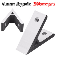 1pc 45 Degree Aluminium Angle Corner Joint Bracket Connector For 2020 Aluminum Profile Extrusion Frame Part стоимость