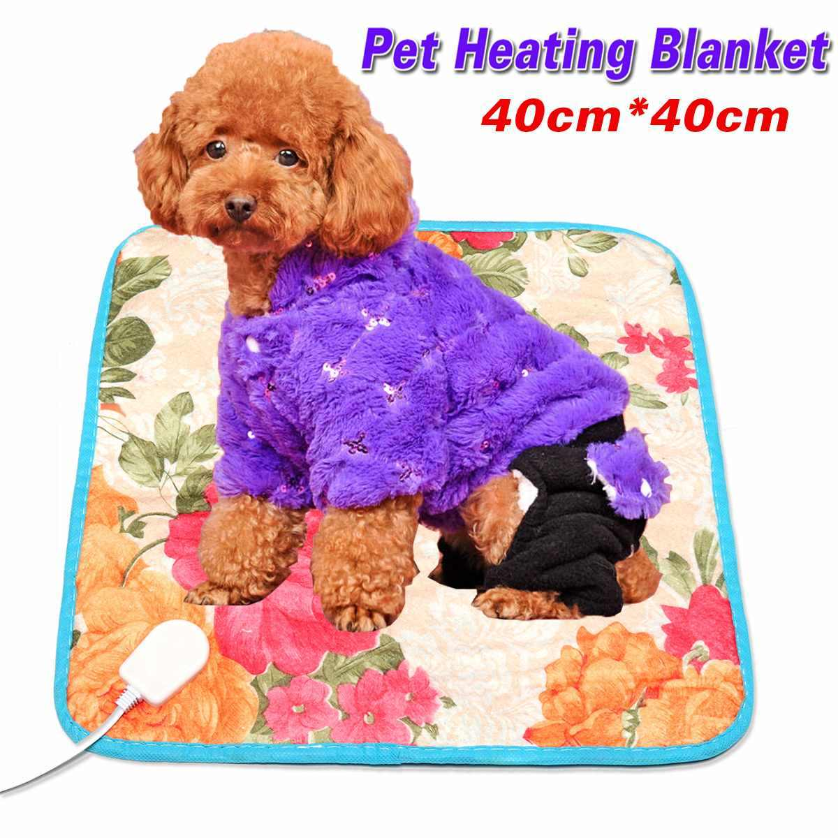 40 センチメートル * 40 センチメートルペット暖かい電気熱暖房パッドマット毛布睡眠 18 ワット犬猫秋冬クッション
