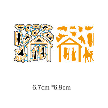 Birth of Jesus/Nativity Metal Cutting Dies New 2018 Stencils DIY Scrapbooking Paper Cards Craft Making Craft Fun Decor Christmas(China)