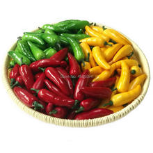 Gresorth 60pcs Artificial MINI Pepper Chili Fake Vegetable Home Kitchen Party Christmas Food Toy Decoration