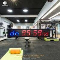 Грузовые бесплатно 4 ''8 цифр светодиодные часы с функцией обратного отсчета таймера тренировки для гаража тренажерный зал дома Crossfit Training съ