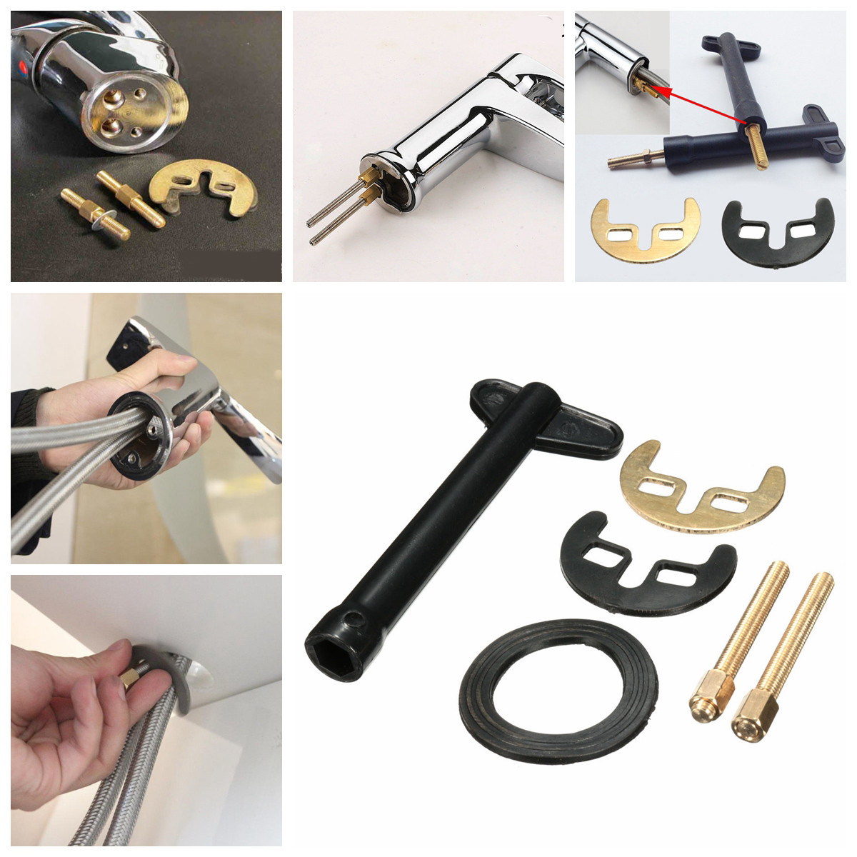 M6 Faucet Mounting Accessories Installation Tool Repair Wrench Kit