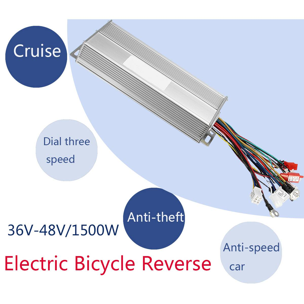 1500w 36 48v dc brushless controller electric bicycle speed controller e bike e [ 1200 x 1200 Pixel ]