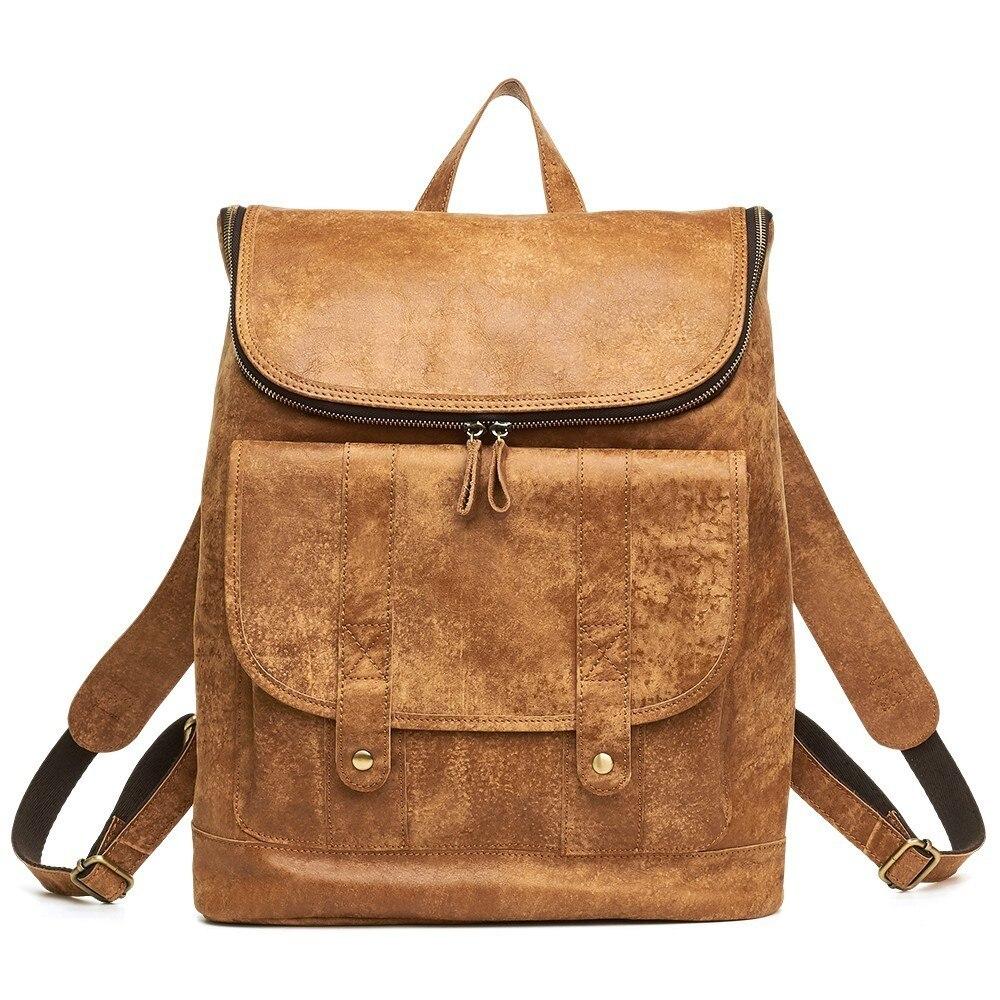 Laptop Rucksack Women Travel Backpack School-Bag Vintage for Man 14-Unisex