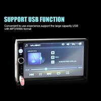 BEESCLOVER 2 Din Car Video Player 7 HD Player MP5 Touch Screen Digital Display Bluetooth Multimedia USB Car Radio rNO