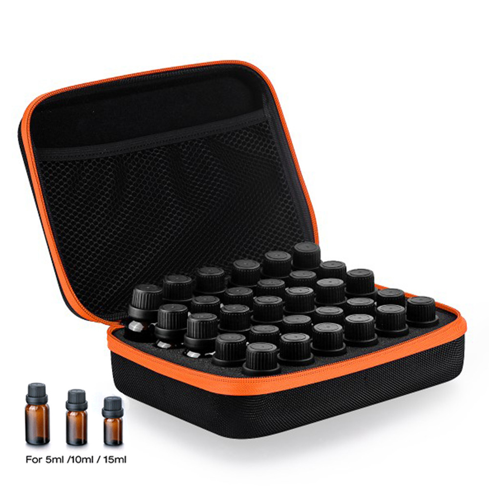 30-Bottle Ätherisches Öl Kasten Tragetasche Halter 5ML10ML 15 ML Parfüm Öl Reise Aufbewahrungsbox Nagellack Veranstalter Aufbewahrungstasche