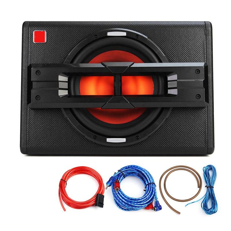 10 дюймов 1200 Вт автомобильные сабвуферы активный трапециевидный сверхвесовой автомобильный аудио сабвуфер автомобильные колонки модифици...