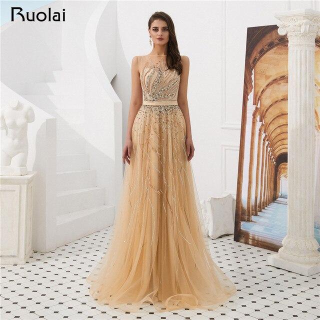 New Prom Dress 2019 Boat Neck A-Line Evening Dress Long Luxury Beaded Evening  Party Gown Vestido de Fiesta SN15 e2a14cd38555
