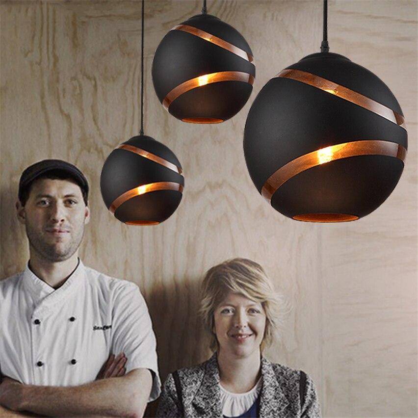 Nordique Vintage Restaurant moderne pendentif lumières Led salle à manger cafés vêtements boutique chambre lumières italien décor lampes luminaires