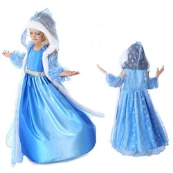 Elza Cosplay 2019 Snow Queen Elsa Dresses Frozen Princess Anna Dress for Girls Costumes Kids Girls Clothing Costume