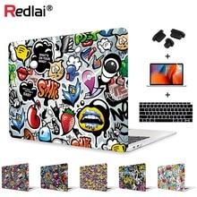 Redlai Laptop Case For MacBook Air 13 A1932 Case 2019 Pro 13 15 Touch bar Shell Air Pro Retina 12 13 15 Graffiti Print Hard Case худи print bar lucky one 13