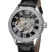 Winner Casual Skeleton Design Mens Watch Top Brand Luxury Transparent Case Black Silver Dial Mechanical Watch Male Clock стоимость