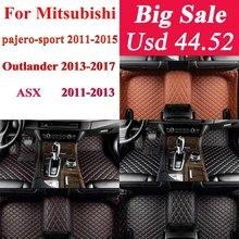 Автомобиль водонепроницаемые коврики для Mitsubishi для Outlander, Pajero Sport Asx 2011 2012 2013 2014 2015 автомобильные аксессуары напольный коврик для ног