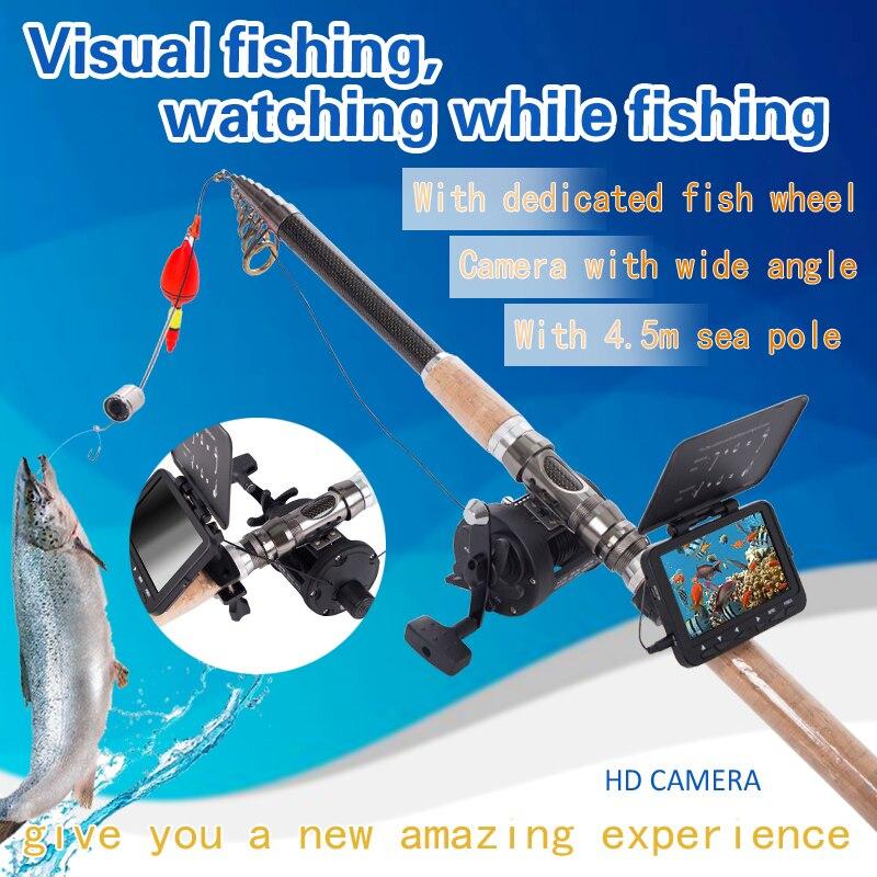 SYANSPAN Tragbare Fisch Finder 20 M HD 1000TVL Unterwasser Eis Angeln Video Kamera Fishfinder 4,3