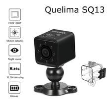 Quelima SQ13 Мини HD 1080 P Видеорегистраторы для автомобилей DV Камера WI-FI H.264 задержки выключения петли цикла Запись Ночное видение штамп времени Камера