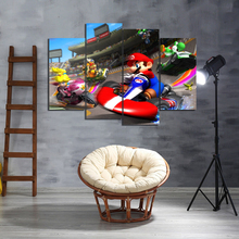 4 Piece HD Games Art Print Mario Kart Poster Paintings Pictures Canvas Decorative for Home Decor Wall