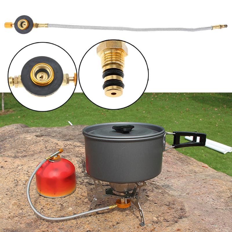 Hot Braided Hose Outdoor Gas Stove Burner Furnace Connector Gas Tank Adapter Valve for Outdoor Camping Cooking Equipment NewHot Braided Hose Outdoor Gas Stove Burner Furnace Connector Gas Tank Adapter Valve for Outdoor Camping Cooking Equipment New