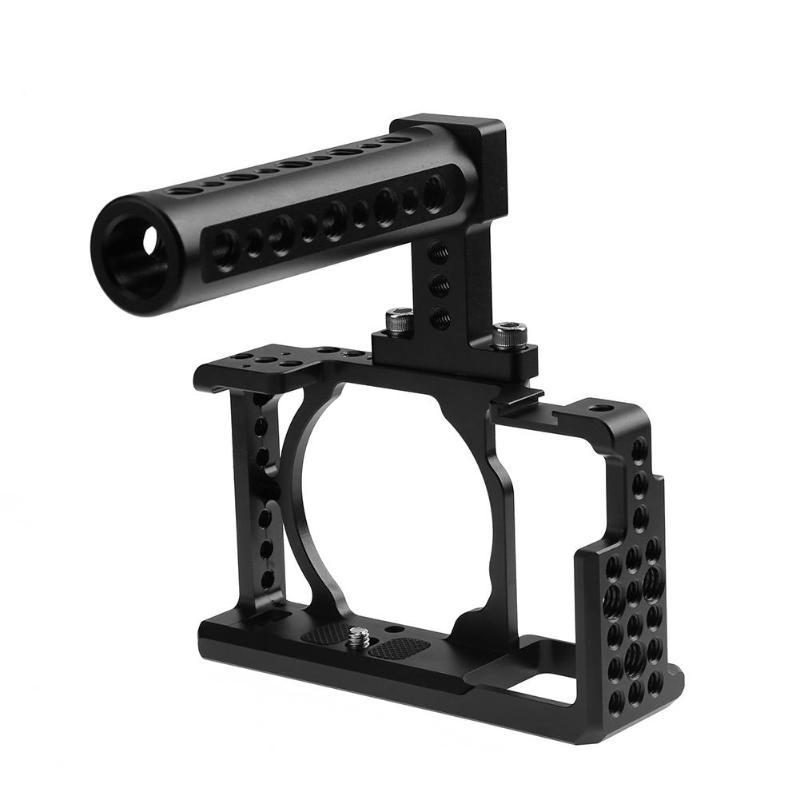 Caméra vidéo de protection Cage + poignée supérieure stabilisateur caméra système de fabrication de Film pour Sony A6000 A6300 NEX7 pour caméra Studio