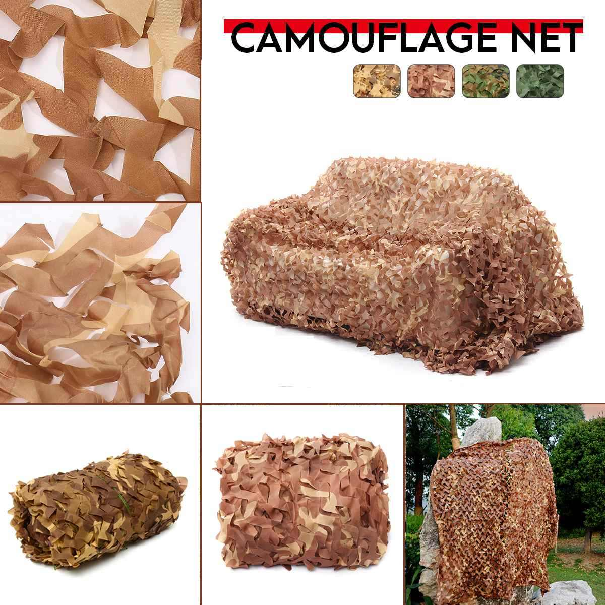 2x2 2x3 2x4 2x5 2x6 2x7 2x8 2.5x5 150D 120g Polyester Oxford Fabric PET Fibre Camouflage Camo Net Netting Hunting Sun Shade Car