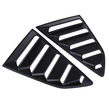 POSSBAY Car Rear Side Window 1/4 Quarter Louver Cover Vents for Chevy Camaro Coupe Autobiles Car Rear Window Stickers