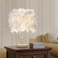 Feather Crystal E27 Table Lamp Holder room Bedside Reading Light Base Decor 2019 New Arrival Home Decoration