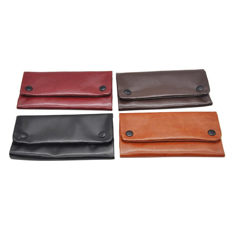 PU Tobacco Pouch High Quality Pipe Tobacco Long Section Wallet Bag Tobacco Storage Bag 4 Colors For Choose 1PC