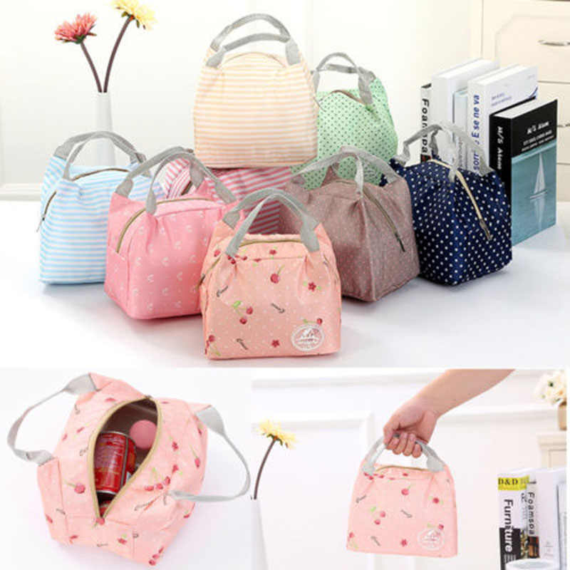 Functional Pattern Cooler Cute Portable Thermal Insulated Lunch Container Lunch Box Portable Food ContaineStorage Bag Picnic Hot