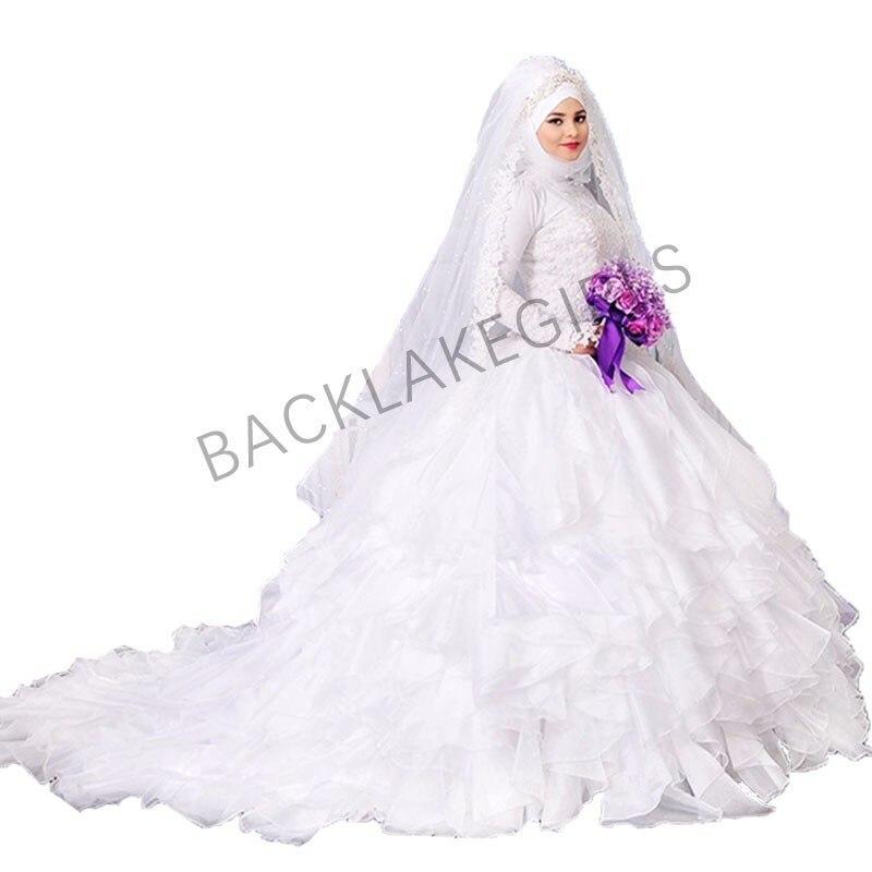 Vestidos De Casamento Elegant Long Sleeve Wedding Dress