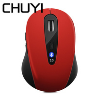 CHUYI Mini Wireless Bluetooth Mouse 1600 DPI Optical Gaming Mice Bluetooth 3.0 Mause For Laptop Notebook PC Computer