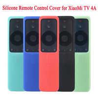 Capa de controle remoto de silicone protetora suave à prova de riscos anti-skip caso para xiaomi tv 4a sem fio bluetooth remoto capa
