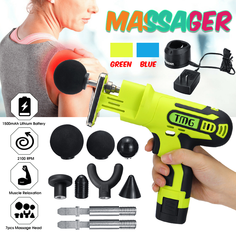 Electrical Back Neck Shoulder Body Massager Muscle Massager Guns Heated Kneading Home Massagem +7 Interchangeable Massages HeadsElectrical Back Neck Shoulder Body Massager Muscle Massager Guns Heated Kneading Home Massagem +7 Interchangeable Massages Heads