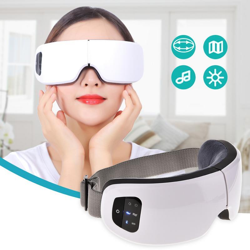 Appareil de massage des yeux électrique pliable Bluetooth 6 S sans fil USB soulagement de la pression d'air réglable outil de protection des yeux anti-rides