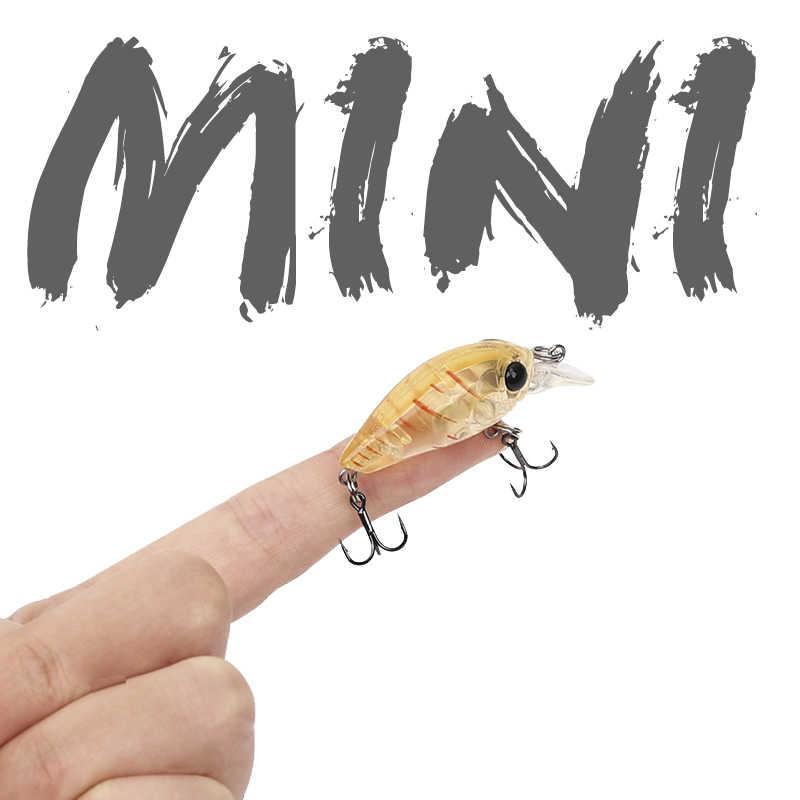 TSURINOYA balıkçılık cazibesi DW24 Mini Crank Bait 35mm 3.5g yapay küçük Minnow kalem Crankbait sert yem Wobblers Swimbait