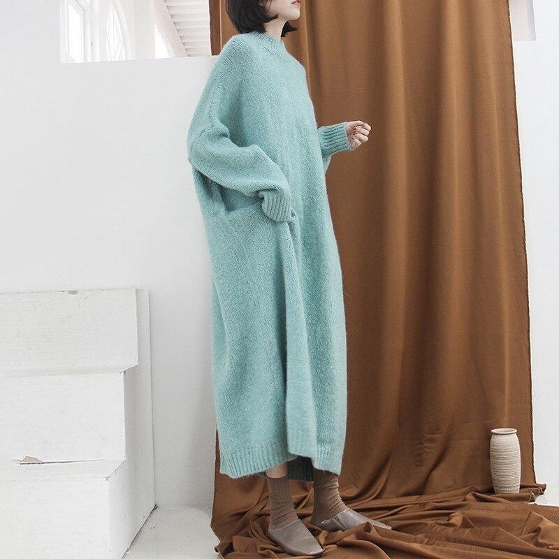 Femmes Plus Féminine Cheville Mode 2019 Manches Longues À Picture Nouveau De Casual Surdimensionné L533 Tricot As Longueur Robe Épais Robes Automne qwEv6SP