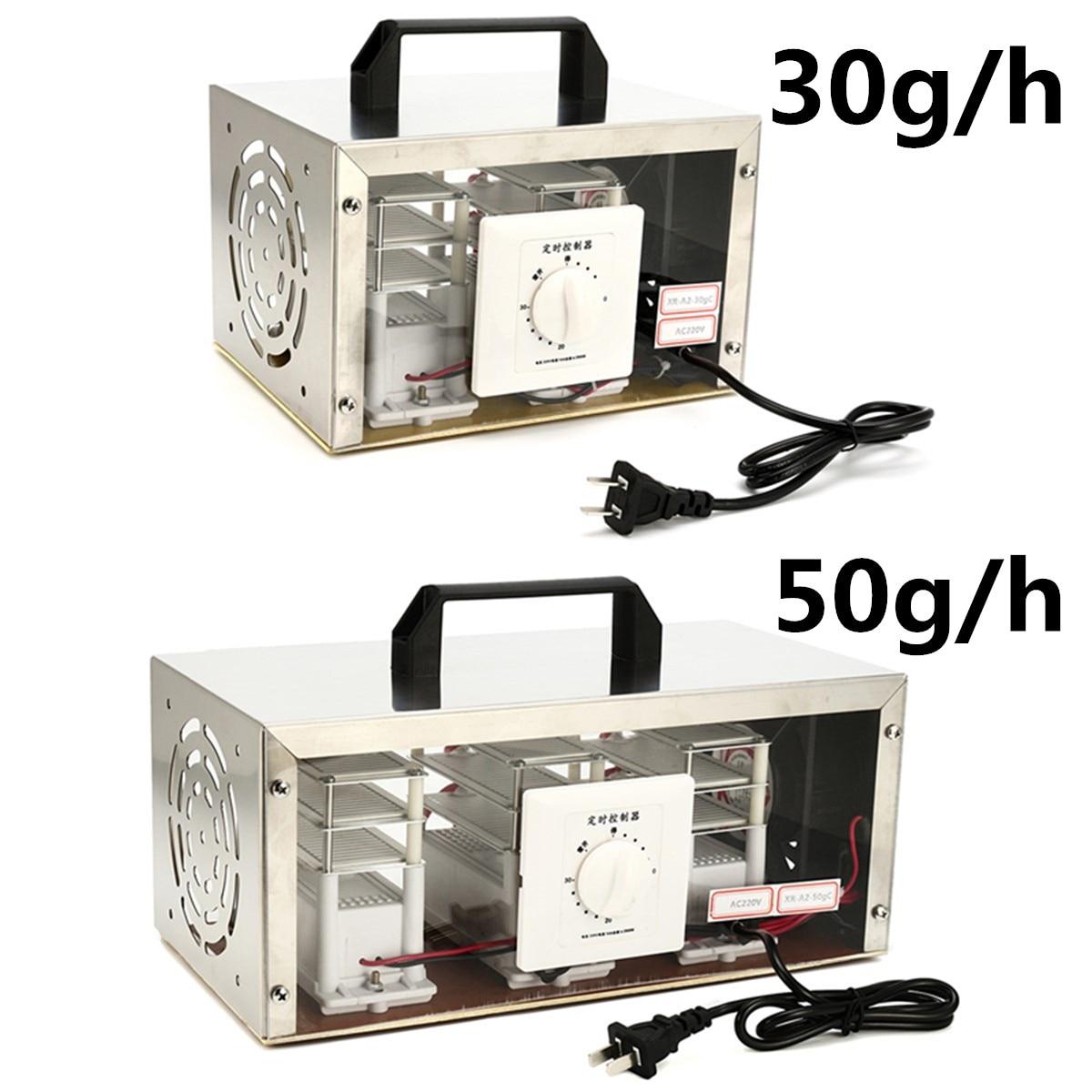 30 g/h 50 g/h 220 V Aria Generatore di Ozono Purificatore D'aria Ozonizzatore Sterilizzatore Portatile Ozonizzatore Cleaner Sterilizzatore con Interruttore di Temporizzazione
