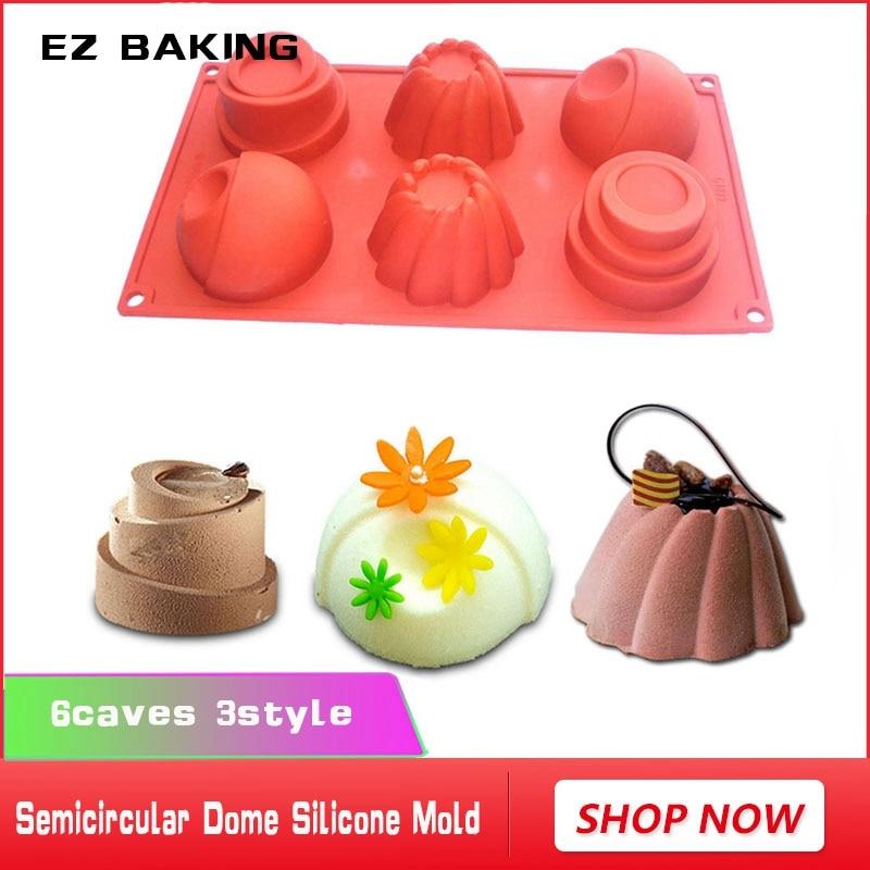 Diseño de pastel de mousse 6 cueva domo semicircular molde de pastel - Cocina, comedor y bar