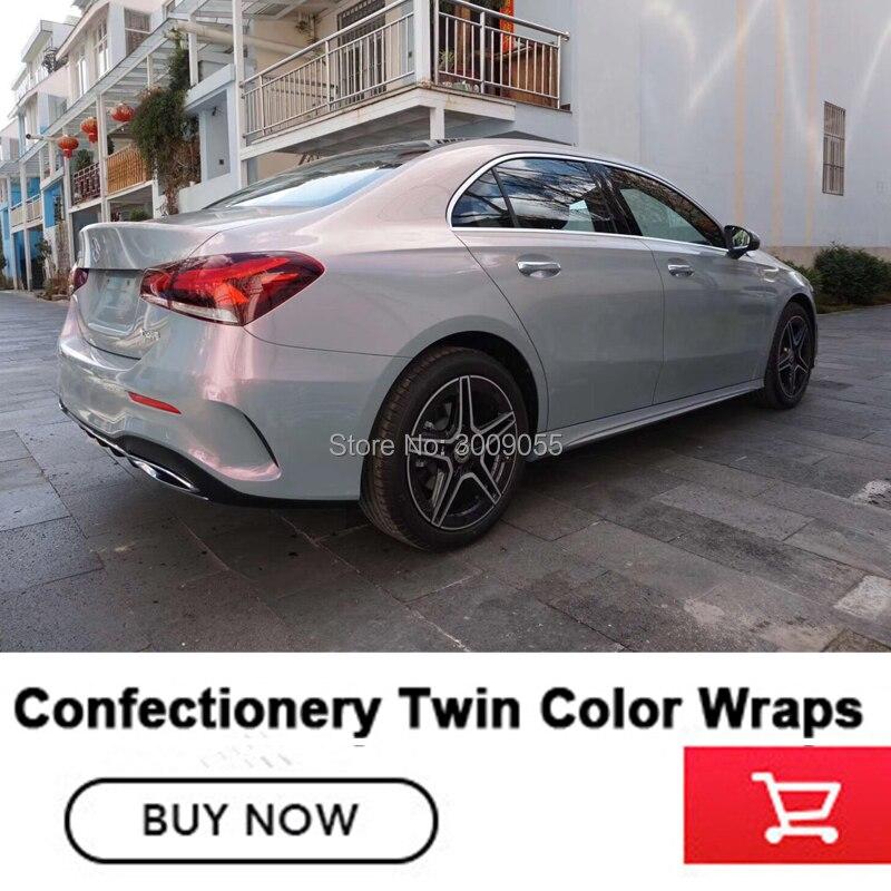 Premium serie glänzend magie twin farbe stein grau wrapping film Auto Wrap Aufkleber Wraps vinyl garantieren qualität diamant kleber - 3
