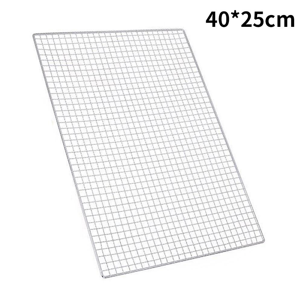 Barbecue Grill Plated Baking Net Japanese Korean Style Rectangular Barbecue Tools Barbecue Net Mesh Plating Baking Net 2019 New in Other BBQ Tools from Home Garden