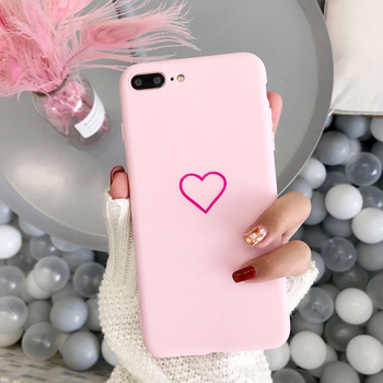 Lovebay Lovely Phone Case For iPhone 6 6s 7 8 Plus X XR XS Max Cute Cartoon Simple Love Heart Soft TPU For iPhone X Phone Case 1