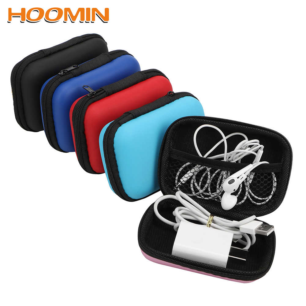 HOOMIN Multifunction Digital Storage Bag For USB Cable Earphone Travel Kit Case Pouch Earphone Bag Electronics Organizer