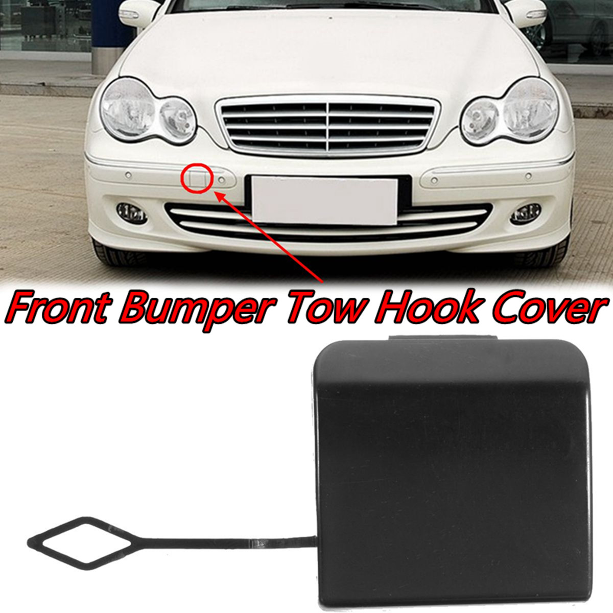 MB C-CLASS W203 2000-2007 NEW FRONT BUMPER TOW TOWING EYE HOOK COVER CAP