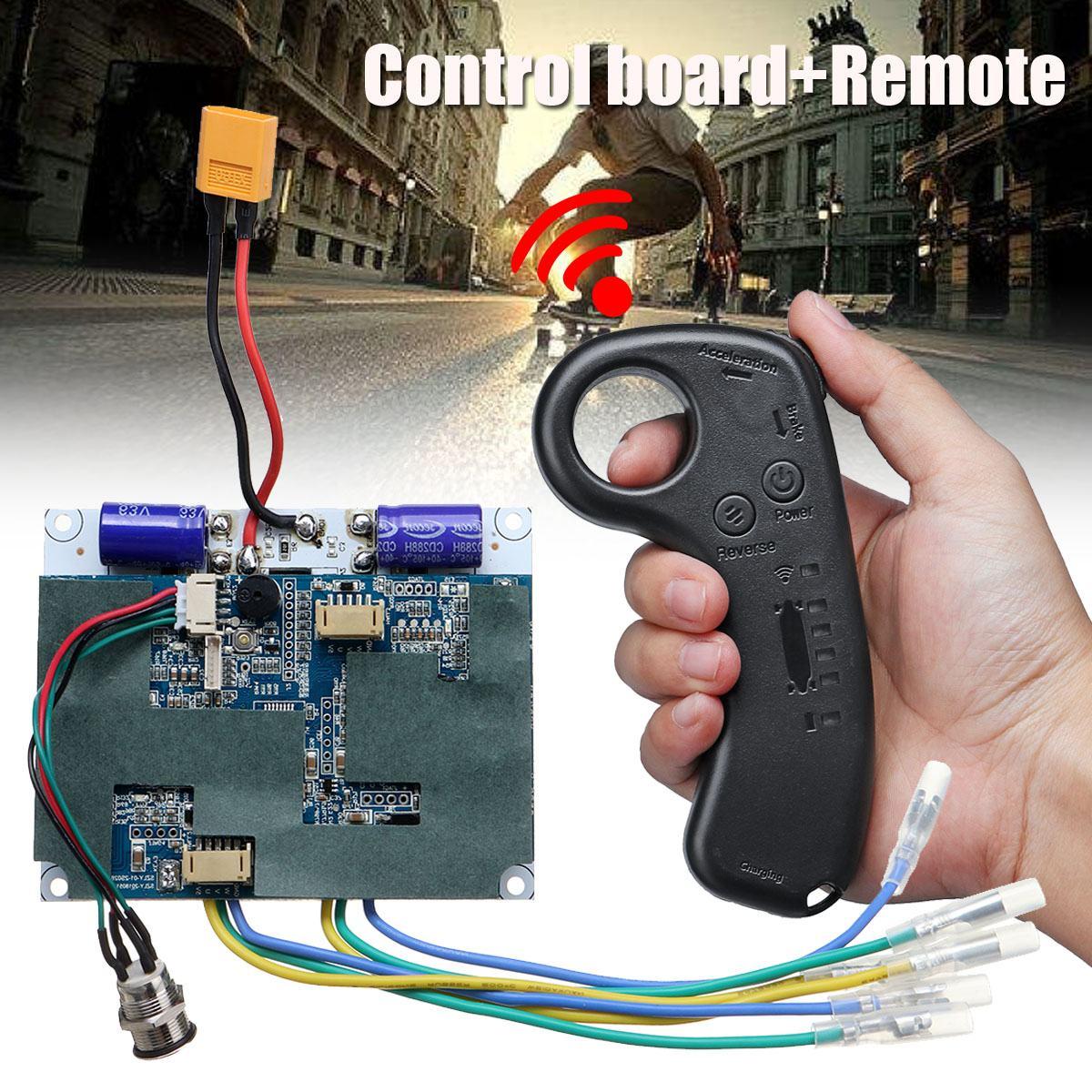 36 V double moteur planche à roulettes électrique Longboard lecteur contrôleur ESC Hub moteur Mini télécommande électrique Skateboard accessoires