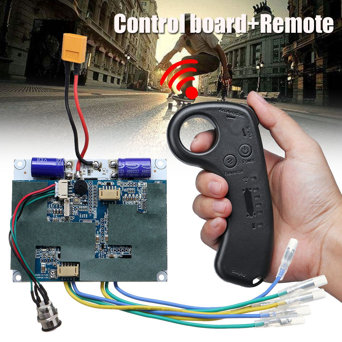 36V Dual Motor Electric Skateboard Longboard Drive Controller ESC Hub motor Mini Remote Electric Skateboard Accessories