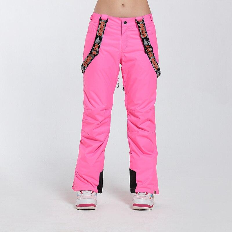Pantalon de Ski de marque Gsou Snow femme pantalon de Snowboard imperméable pantalon de Ski respirant hiver Sport de plein air pantalon de Ski de montagne - 4