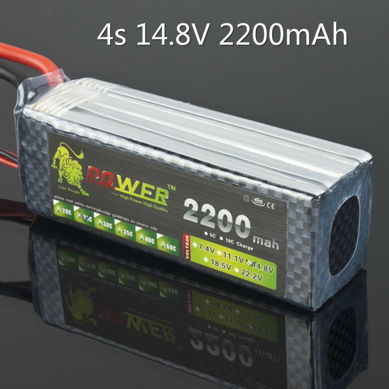 Lion Power Lipo Battery <font><b>14.8V</b></font> <font><b>2200mAh</b></font> 25C Max 35C 4S T XT60 Plug For RC Quadcopter Truck Drone Battery 14.8 V Lipo High Quality image