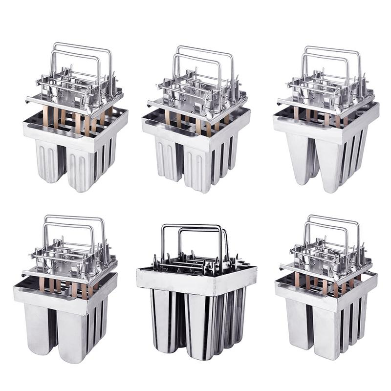 Ice Lolly Mold 304 Stainless Steel Popsicle Ice Cream Mold With 8 Compartments
