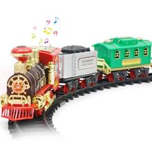 Electric Steam RC Train Track Train Set