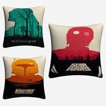 Empire Strikes Back Star Wars Decorative Throw Pillow Case For Sofa 45x45cm  Linen Cushion Covers Home Decor Pillowcase Almofada майка борцовка print bar empire strikes back