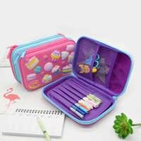 Porte-crayon à gâteaux licorne estuche escolar étui à crayons haute capacité kalem kutu trousse scolaire stylo astuccio scuola étui à stylo